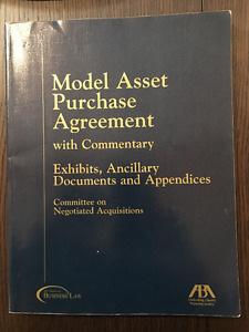 Model Asset Purchase Agreement with Commentary - Vol 2: Exhibits