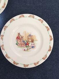 Vintage Royal Doulton Bunnykins christening set
