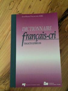 Dictionnaire français-cri de Louis-Philippe Vaillancourt Gatineau Ottawa / Gatineau Area image 1