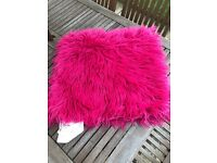 IKEA pink fluffy cushion cover