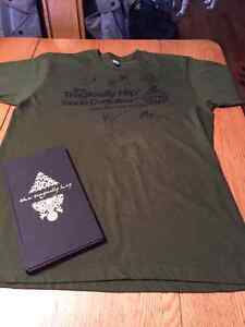 Tragically Hip CD Booklet with Autographed T-shirt