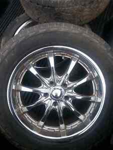 20 inch chrome wheels  and perrlie tires 700obo