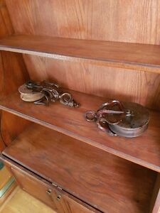 Antique Wooden pulleys.