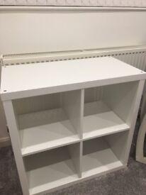IKEA shelving unit white