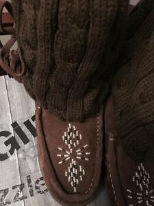 New! Grizzleez chestnut brown moccasin boot size 7.5,8,8.5 Kitchener / Waterloo Kitchener Area image 4