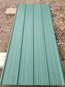 """175 Square Feet New Green Steel Roofing 8@7'3"""""""