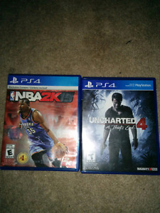 NBA 2k15 & New Uncharted 4 PS4 games