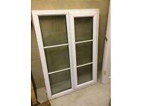 Double glazed UPVC window 1m wide x 1.5m tall