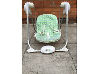 Baby bouncer/swing battery operated and music