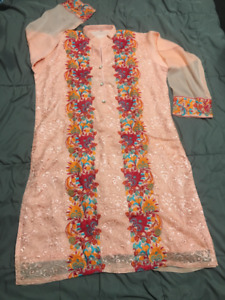 Embroidered Kurti (Indian/Pakistani) Large-Eid/Party wear