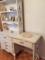 Antique bedroom set for little girl.
