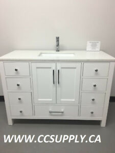 "WOOD Construction Bathroom Vanity 36"" & 48"""