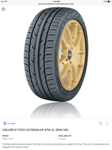 Tires for Sale - TOYO EXTENSA HP 245/40R18