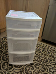Filing and/or storage cabinet - 1 Sterilite  4 Drawer