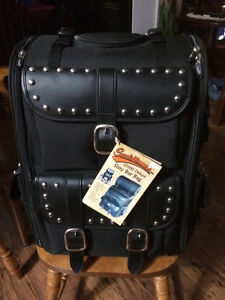 Motorcycle travel bag and air hawk seat