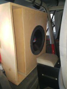 "18"" Lanzar Sub in a 30 hertz tuned box 300 watts RMS watch video"