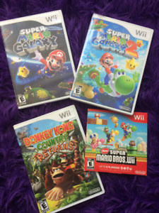 Wii Games: Super Mario Galaxy 1 and 2, and DK Country Returns