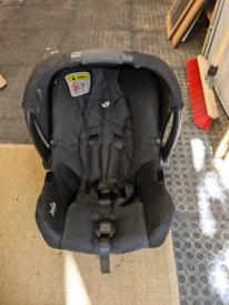 Joie car seat. Newborn to 1yr.