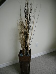 Wicker & Copper Container with grasses