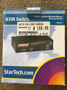 Startech SV231 - 2 Port Professional PS/2 KVM Switch & Cables London Ontario image 1
