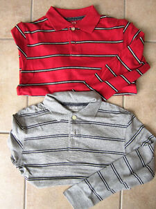 Youth Boys Size 7/8 Polo Long Sleeved Shirts