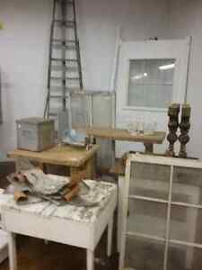 Wooden ladders, harvest tables, sap pails, watering cans, doors  Cambridge Kitchener Area image 8