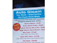 Auto gleam Stirling Mobil valeting now here