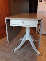 Great Refinished Drop Leaf Table