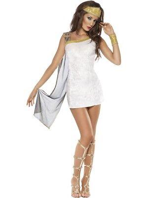 Venus Kostüme Damen Göttin Römer Kleid weiss gold - Göttin Venus Kostüm