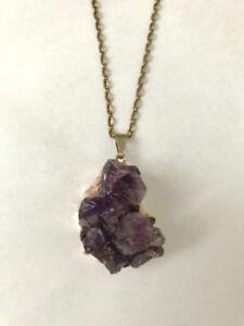 Amethyst (violet quartz) Crystal Necklace