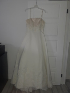 Robe de mariée avec traîne détachable