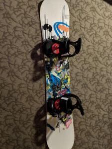 Snowboard  Salomon Sanchez151, Burton Freestyle Bindings