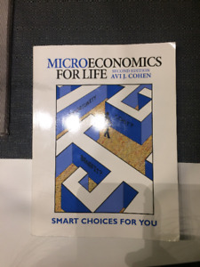 Microeconomics For Life Second Edition Avi J. Cohen Textbook