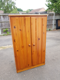 Small Pine wardrobe, delivery available
