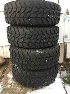 265/70R17 Destination M/T Firestone tires with rims