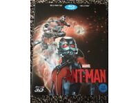 Antman 2D &3D Blu ray steelbook with slipcase.