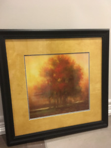 Beautiful fall trees painting