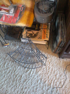 3 metal shelves lot