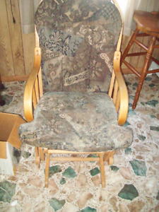 Nice rocker chair but repaired somewhat