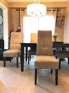 (4) DINING ROOM CHAIRS, APPROX 1.5 YEARS  $75.00 per chair