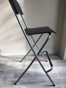 Wood and Steel Folding Chairs
