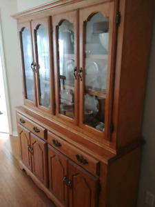 Solid birch buffet and cabinet