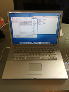 "PowerBook G4 1.6GHz 15"" 1GB RAM 75GB HD"