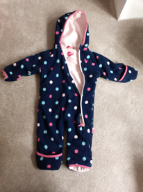 Fleece all in one suit by Muddy Puddles 6-12m