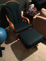 Rocking Chair and Stool. Well maintained and comfortable. OBO