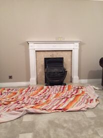 Fireplace plus surround