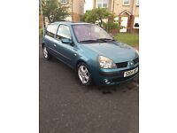 REANULT CLIO 1.2 3DR 1YR MOT FULL SERVICE HISTORY ONLY £695
