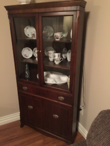 Corner Cabinet and matching Drop Leaf Table