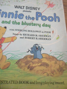1967 Winnie the Pooh Extended Play Vinyl Record with book