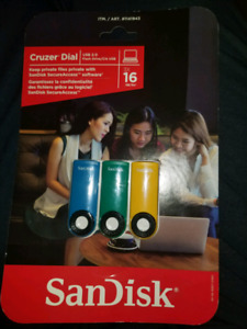 Cruzer Dial 3 pack - 16GB